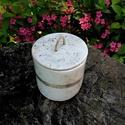 Kerámia kaspó, tároló - rusztikus fekete/fehér rusztikus, Dekoráció, Otthon, lakberendezés, Kaspó, virágtartó, váza, korsó, cserép, Tárolóeszköz, Ez a kerámia tároló raku technikával készült, melynek az a különlegessége, hogy soha nem készül két ..., Meska