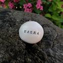 KARMA - Kerámia Üzenetkavics, Dekoráció, Otthon, lakberendezés, Szerelmeseknek, Legyél egyedi minden pillanatban!  Válassz a meglévő feliratokból vagy találd ki saját üzenetedet  é..., Meska