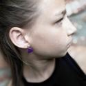 Mini szív - Lila fülbevaló, Ékszer, Szerelmeseknek, Fülbevaló, Ha szolid, de cuki darabokat szereted, ez igazán neked való. Mini szívecske lila színben, arany alap..., Meska