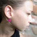 Mini szív - Pink  fülbevaló, Ékszer, Szerelmeseknek, Fülbevaló, Ha szolid, de cuki darabokat szereted, ez igazán neked való. Mini szívecske indigókék színben, ezüst..., Meska