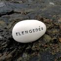 ELENGEDÉS - Kerámia Üzenetkavics , Dekoráció, Legyél egyedi minden pillanatban!  Válassz a meglévő feliratokból vagy találd ki saját üzenetedet  é..., Meska
