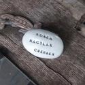 Kétoldalas feliratos Varázskavics, Dekoráció, Egyedi megrendelésre készült kétoldalas varázskavics., Meska