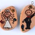 Esküvő kulcstartó - INGYENES SZÁLLÍTÁSSAL!, Esküvő, Esküvői dekoráció, Meghívó, ültetőkártya, köszönőajándék, Nászajándék, Kitűnő apróság a párnak a nagy napon ez a két cuki kulcstartó. Kérhetsz az oldalába dátumot illetve ..., Meska