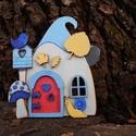 Kék tündérajtó  bejárat a tündérek világába, Dekoráció, Játék, Otthon, lakberendezés, Falmatrica, Festészet, Famegmunkálás, Hallottál már valaha tündérekről? Bizonyára igen! :) Abban is biztosak lehetünk, hogy ezek a pici v..., Meska
