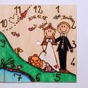 Személyre szabható falióra esküvőre, nászajándékba, Esküvő, Otthon, lakberendezés, Nászajándék, Falióra, Festett tárgyak, Mindenmás, Egyedi, személyre szabott ajándék lehet esküvőre, évfordulóra. Írd meg az ifjú pár kedvenc hobbiját..., Meska