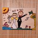 """""""Gratulálunk"""" - ESKÜVŐ - INGYENES SZÁLLÍTÁSSAL!, Dekoráció, Esküvő, Nászajándék, Meghívó, ültetőkártya, köszönőajándék, Egyedi ajándék esküvőre. :)  Írj egy rövid jellemzést a párról (hogy néznek ki, hobbi, stb.), a dátu..., Meska"""