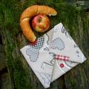 Környezetbarát szendvics kendő lemosható béléssel, Baba-mama-gyerek, Konyhafelszerelés, Táska, Baba-mama kellék, Szendvics csomagoló textil szalvéta letörölhető béléssel. Csökkentsd a hulladékot! Használj újrahasz..., Meska