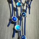 HyperBlue , Ékszer, Nyaklánc, Ékszerkészítés, HyperBlue - nyaklánc Belső hossz: 38 cm Külső hossz: kb. 57 cm Hosszabbító: 8 cm Tömeg: 20 g Anyag:..., Meska