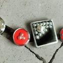 """AKMEN - variálható kitűző-szett, ruhára, táskára, stb., Ékszer, Bross, kitűző, """"Akmen"""" - variálható kitűző-szett  Több kitűző (fekete, fehér, piros) egy """"csomagban"""". Szere..., Meska"""
