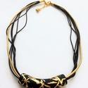 Hemu 14. - rövid nyaklánc, Ékszer, Nyaklánc, Hemu 14. - rövid nyaklánc  Rövid, a nyak formáját követő, különleges kis nyaklánc, saját ..., Meska