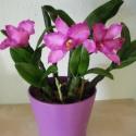 rózsaszín cattleya - agyag orchidea , Dekoráció, Otthon, lakberendezés, Dísz, cattleya orchidea agyagból    Egy különleges, Thaiföldről származó, levegőre száradó agyag..., Meska