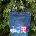 Vonatos gyerek táska, Ovis farmer táska,  kincsek tárolására, levele...