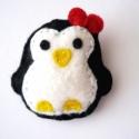Pingu kitűző, Ezt az édes kis duci pingvint varrtam meg kézzel...