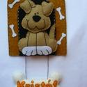 Kutyusos névtábla-Kristóf, Filcből kézzel készült kutyusos névtábla.