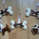 Karácsonyfadísz kutyaimádóknak. (5 db), Filcből készült, kézzel varrt  karácsonyfadí...