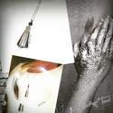 Rojt medál láncon...Bekka Art Trend '16-Ősz, Bőrből készített rojt medál, hosszított orvo...