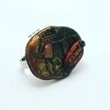 'Tara '  gyűrű, Ékszer, óra, Karkötő, Feltűnő, egyedi gyűrű,   A gyűrű alap, platinázott sárgaréz.  A Bekka Art ékszerek mind - ahogyan ez..., Meska