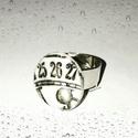 Gyűrű, Ékszer, Gyűrű, Dombornyomott gyűrű állítható méretű gyűrűalappal  A gyűrű átmérője: 2 cm  A Bekka Art ékszerek mind..., Meska