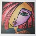 'Belle', Képzőművészet, Otthon, lakberendezés, Festmény, Falikép, Saját festményről készült szignózott, számozott nyomat, print , limitált számú reprodukció  (30)  Ny..., Meska
