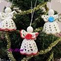 Horgolt angyal - 3 db, Dekoráció, Karácsonyi, adventi apróságok, Ünnepi dekoráció, Karácsonyfadísz, Horgolás, Ezeket az angyalkákat 10-es horgolócérnából készítettem. Nem keményítem, így könnyebb a tárolás, ké..., Meska