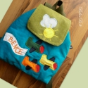 MARCI hátizsákja, Kordbársony színes hátizsákok kicsiknek, oviso...