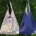 Kifordítható táska, Táska, Válltáska, oldaltáska,  Kifordítható táska. Mindkét fele használható. 67 cm magas, 42 cm széles. Laza lezser jól pakolható ..., Meska
