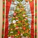 Adventi naptár Karácsony Karácsonyfa Mikulás, Otthon, lakberendezés, Naptár, képeslap, album, Falikép, Naptár, Varrás, Különleges csodaszép adventi fali textilnaptárakat készítek Neked. Tudom, fontos számodra az advent..., Meska
