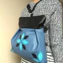 Virágos hátizsák rendelhető, Táska, Válltáska, oldaltáska, Szatyor, Textilbőr többfunkciós táska. 30 cm széles felül, 35 cm magas. Cipzáras. Belül van egy 2 részre oszt..., Meska