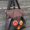 barna 3in1 hátizsák rendelhető, Táska, Válltáska, oldaltáska, Hátizsák, Textilbőr többfunkciós táska. Ajándék papírzsepitartóval.30 cm széles felül, 35 cm magas. Cipzáras. ..., Meska