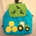 Traktoros hátizsák, Kordbársony gyerekhátizsák, 30 cm magas. 2-5 é...