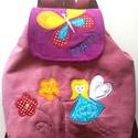 Tündéres pillangós hátizsák, Gyerekhátizsák, 30 cm magas. 2-5 éves gyerekekn...