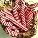 Cukorpálca karácsonyfadísz 10 db, 14 cm magas textildísz akasztóval. Cukorpálca a...