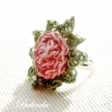 Rózsás ujjak - horgolt gyűrű, Aprócska és kedves, romantikus hangulatot hoz a ...