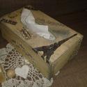 Papírzsepi tartó, Otthon, lakberendezés, Tárolóeszköz, Doboz,  Rétegelt fából készült papírzsepi tartó, aminek az alja kihúzható, hogy a dobozos zsepit bele tudd ..., Meska