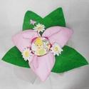 Textil virág kitűzővel kislányoknak - rózsaszín , Baba-mama-gyerek, Dekoráció, Csokor, Egyedi elképzelés alapján készült textil virág csokor, közepén egy levehető kitűzővel.  K..., Meska