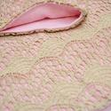 Tejeskávé csipke-rózsaszín csősál, Gyerek & játék, Táska, Divat & Szépség, Sál, sapka, kesztyű, Ruha, divat, Sál, Tejeskávé színű csipke rózsaszín pamut belső résszel összedolgozott csősálunk 42 cm magas, körfogata..., Meska