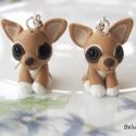 Csivava  fülbevaló, Ékszer, Fülbevaló, Kicsi Csivava kutyákat készítettem. Nikkelmentes fülbevaló alapra szereltem.  Ha más színben szeretn..., Meska