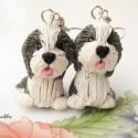 Bearded Collie-fülbevaló, Ékszer, Fülbevaló, Kicsi (kb.2-2.5 cm) Bearded Collie kutyusokat készítettem,nikkelmentes fülbevaló alapra szerelte..., Meska