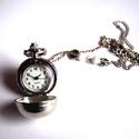 Ezüstözött hosszú gömb alakú nyakláncóra, Ékszer, óra, Karóra, óra, HOSSZÚ NYAKLÁNCÓRA ezüst színben.Gömb alakú.Igazi különlegesség. Hossza kb. 80 cm.Kérésr..., Meska