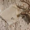 Ünnepi ezüst női maszk, alkalmi maszk, maszk esküvőre, keresztelőre, koszorúslánynak, vintage maszk, Igazi 60-as évekbeli vintage anyagból készült ...