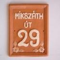 Téglalap alakú házszám tábla (bercsenyikeramia) - Meska.hu