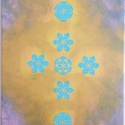 Mandalás kép kereszttel, Dekoráció, Otthon, lakberendezés, Kép, Falikép, 30*40 cm vászonra készített festményem, melyre  életvirágokat vittem el sablon segítségével..., Meska