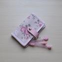 Rózsás romantika Kártyatartó, kártyarendező , Táska, Pénztárca, tok, tárca, Sok-sok akár 24 db kártya tárolására alkalmas, plussz két belső zsebbel, melyben még egy-egy nagyobb..., Meska