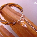 Narancskarikák csokoládéöntettel - karkötő, Kellemes meleg színeivel a nyarat idézi. Csokiba...