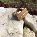 Fémberakásos fa gyűrű!, Ékszer, óra, Férfiaknak, Gyűrű, Egyedi kézzel készült -ezüstös- fémberakásos fa gyűrű amivel biztosan nem találkozol minde..., Meska