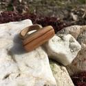 Divatos fa gyűrű!, Ékszer, óra, Férfiaknak, Gyűrű, Famegmunkálás, Fémmegmunkálás, Egyedi kézzel készült divatos-modern fa gyűrű amivel biztosan nem találkozol mindennap. Kialakításu..., Meska