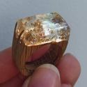 'Jégkristály' gyűrű - fa gyűrű!