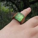 Színes nyári gyűrű - fa és gyanta!, Ékszer, Gyűrű, Sok színben készült ez a fa és gyanta kombinációjából született gyűrű, ha neked is megtet..., Meska