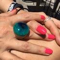 Kerek gyűrű - gyanta és fa!, Ékszer, Gyűrű, Egyedi méretben készített gömbölyű gyűrű. Sokféle színben., Meska