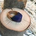 Csillagos éjszaka gyűrű 18-20 mm - gyanta és fa!, Esküvő, Ékszer, Esküvői ékszer, Gyűrű, Csodaszép csillagos éjszakára emlékeztető gyűrű. Két darab van készleten egy 18 mm és egy ..., Meska